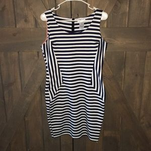 Fitted Navy striped Dress